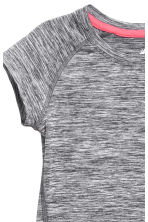 Short-sleeved sports top - Dark grey marl - Kids | H&M 3