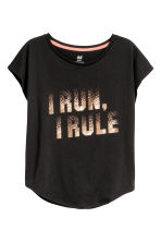 Sports top - Black -  | H&M CN 2