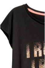Sports top - Black -  | H&M 3