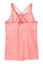 Sports top - Light neon pink marl - Kids | H&M CN 3