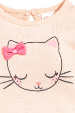 Fine-knit jumper - Powder pink/Cat -  | H&M 2