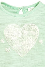 Fine-knit jumper - Mint green/Heart - Kids | H&M CN 2