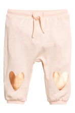 Fine-knit trousers - Powder pink - Kids | H&M 1