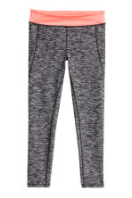 Collant training - Gris foncé chiné -  | H&M FR 2