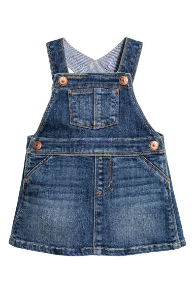 Dungaree dress - Denim blue -  | H&M 1