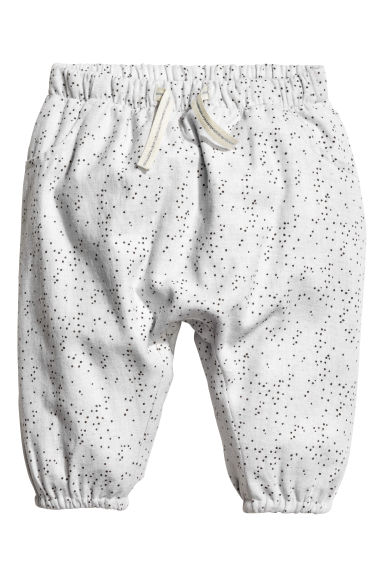 Lined pull-on trousers - Light grey/Spotted -  | H&M 1