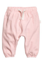Lined pull-on trousers - Light pink -  | H&M 1