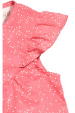 Cotton romper suit - Coral pink/Spotted - Kids | H&M CN 2