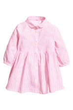 Cotton dress - Pink/White striped -  | H&M 2