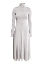 Long polo-neck dress - Light grey - Ladies | H&M 2