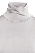 Long polo-neck dress - Light grey - Ladies | H&M 3