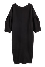 Dress with puff sleeves - Black -  | H&M 2