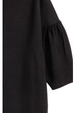 Dress with puff sleeves - Black -  | H&M 3