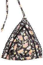 Triangle bikini top - Black/Small floral - Ladies | H&M 3