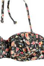 Balconette bikini top - Dark grey/Floral - Ladies | H&M CA 4