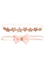 2-pack hairbands - Powder pink - Kids | H&M 1