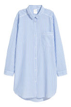 Cotton nightshirt - Lt.blue/Narrow strip - Ladies | H&M 2