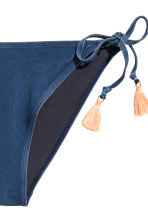Tie tanga bikini bottoms - Denim blue - Ladies | H&M CN 3