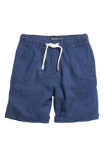 Elasticated shorts - Dark blue - Kids | H&M CN 2