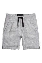 Elasticated shorts - Black/White marl - Kids | H&M 2