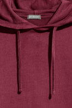Washed hooded top - Burgundy - Men | H&M CN 3