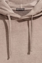 Washed hooded top - Mole - Men | H&M CN 3