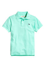 Polo in piqué - Verde menta -  | H&M IT 2