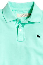 Polo in piqué - Verde menta -  | H&M IT 3
