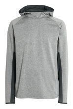 Hooded sports top - Grey marl - Men | H&M 2