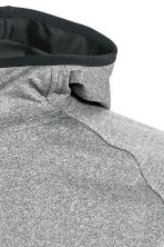 Hooded sports top - Grey marl - Men | H&M 3