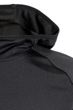 Hooded sports top - Black - Men | H&M CN 3
