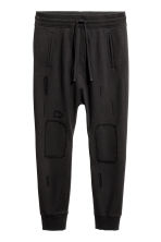 Trashed joggers - Black - Men | H&M 2