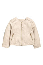 Imitation suede jacket - Light beige - Kids | H&M CN 2