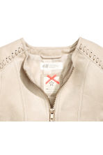 Imitation suede jacket - Light beige - Kids | H&M CN 3