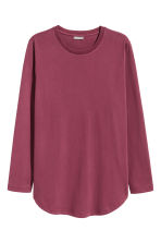 Long-sleeved T-shirt - Plum - Men | H&M 2