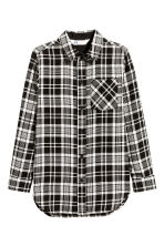 Long shirt - Black/Checked - Kids | H&M CN 2