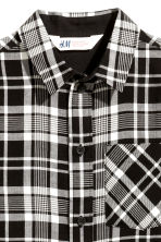 Long shirt - Black/Checked - Kids | H&M CN 3