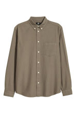 Camicia in cotone Oxford - Verde kaki - UOMO | H&M IT 2