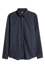 Cotton shirt Slim fit - Dark blue - Men | H&M CN 2