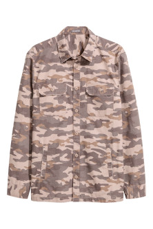 Patterned cargo shirt