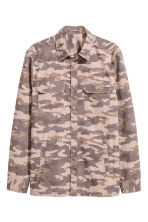 Patterned cargo shirt - Mole/Patterned - Men | H&M 2