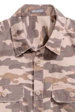 Patterned cargo shirt - Mole/Patterned - Men | H&M 3