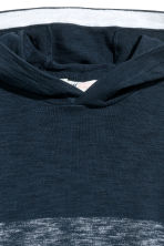 Fine-knit hooded top - Dark blue marl - Kids | H&M CN 3