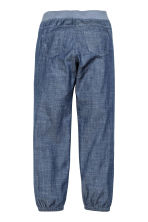 Pantaloni pull-on in cotone - Blu denim - BAMBINO | H&M IT 3