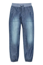 Cotton pull-on trousers - Denim blue - Kids | H&M CN 2