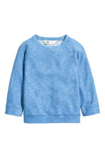 Purl-knit jumper - Blue marl -  | H&M CN 2