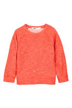 Pull en maille envers - Orange fluo -  | H&M FR 2