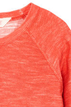 Pull en maille envers - Orange fluo -  | H&M FR 3