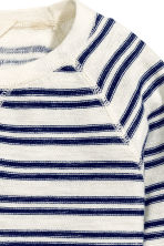 Purl-knit jumper - Natural white/Striped -  | H&M CN 3