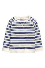 Purl-knit jumper - Natural white/Striped -  | H&M CN 2